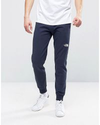 The North Face Blue Nse Sweat Pants Slim Fit In Navy for men