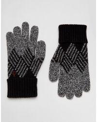 Original Penguin | Black Argyle Gloves for Men | Lyst