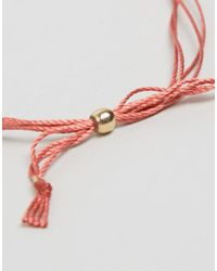 Dogeared - Pink Make A Wish Silk Bracelet With Adjustable Bead Closure - Lyst