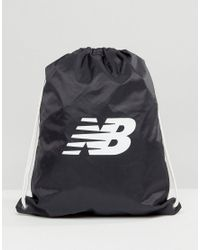 186a9529ec6 New Balance Drawstring Backpack In Black in Black for Men - Lyst