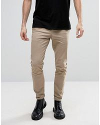 AllSaints | Natural Slim Fit Chino for Men | Lyst