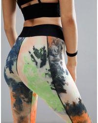 PrettyLittleThing | Orange Tie Dye Gym Legging | Lyst