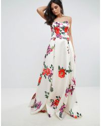 Forever Unique Multicolor Sleeveless Maxi Floral Prom Dress