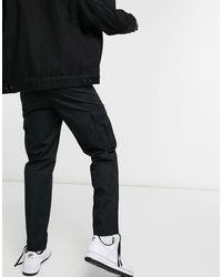Weekday Black Kristoffer Cargo Trousers for men