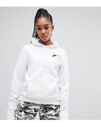 Nike White – Club – er Kapuzenpullover mit Swoosh-Logo