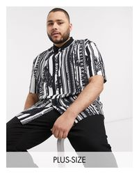 Camisa con estampado River Island de hombre de color Black