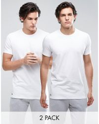 Lacoste | Crew T-shirt 2 Pack Slim Fit White for Men | Lyst