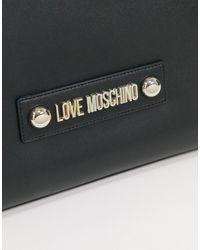 Черная Сумка-тоут С Ремешком -черный Love Moschino, цвет: Black