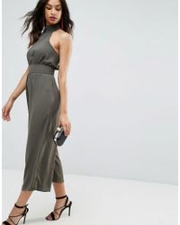 ASOS Green Jumpsuit With High Neck And Buckle