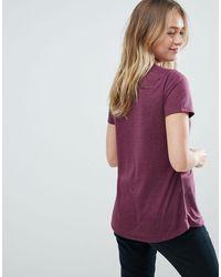 Soaked In Luxury Purple Ruffle Panel T-shirt