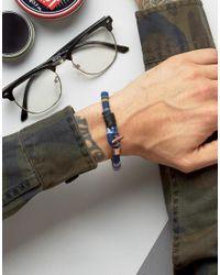Icon Brand - Aztec Woven Bracelet In Blue - Lyst