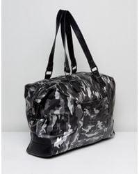 Claudia Canova Metallic Camo Slouch Shoulder Bag