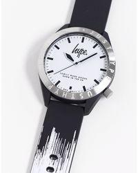 Черно-белые Часы -черный Hype для него, цвет: Black