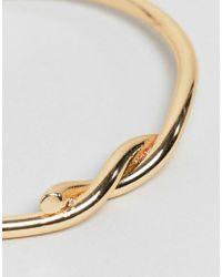 ASOS - Metallic Interlocking Knot Cuff Bracelet - Lyst