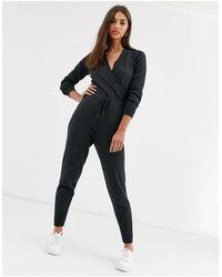 Luxe - Tuta jumpsuit a portafoglio di Micha Lounge in Gray