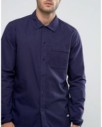 Penfield Blue Blackstone Ripstop Over Shirt Regular Fit for men