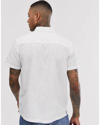Chemise coupe classique à broderie motif flamant rose ASOS pour homme en coloris White