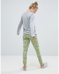 ASOS - Multicolor Avocado Avocuddle Long Sleeve Tee & Legging Pyjama Set - Lyst