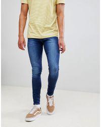 New Look Blue Super Skinny Jeans for men