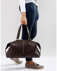 Dune Mandleson Holdall In Brown for men