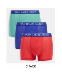 3 Пары Боксеров-брифов (синие/красные/зеленые) -многоцветный Polo Ralph Lauren для него, цвет: Multicolor