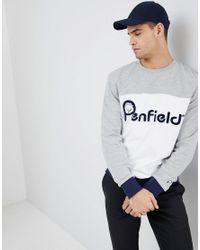 Penfield Gray Hudson Colour Block Sweatshirt for men