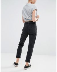 Monki Black Kimomo Mom Jean