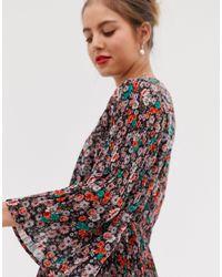 Vestito grembiule a fiori di Vila in Multicolor