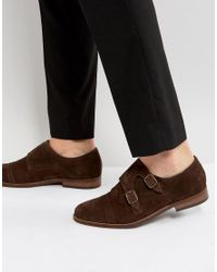 Dune | Brigadier Monk Shoes In Brown for Men | Lyst