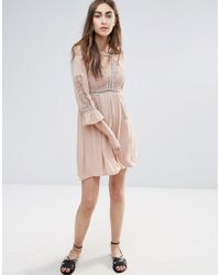 Raga - Natural Love Always Dress With Fluted Sleeve - Lyst