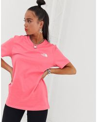 The North Face Pink – Simple Dome – T-Shirt