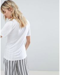 Warehouse White Viscose T-shirt