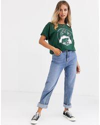 T-shirt décontracté avec imprimé vintage California National Park Daisy Street en coloris Green