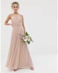 Платье Макси Со Сборками На Лифе ASOS, цвет: Multicolor