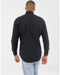 Camisa de corte slim en negro Powel G-Star RAW de hombre de color Black