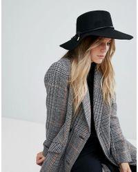 Chapeau à rebord plat avec bordure en corde Ted Baker en coloris Black