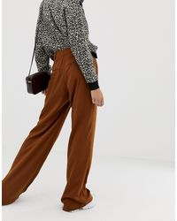 Pantalon large - Marron Pull&Bear en coloris Natural