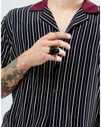 ASOS - Oversized Skull Ring In Matte Black for Men - Lyst
