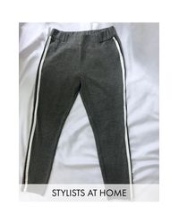 Vila Gray Sporty Stripe leggings