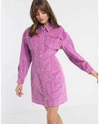 Vestido camisero ASOS de color Pink