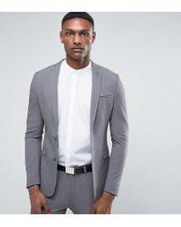 Chaqueta de traje muy ajustada gris de ASOS TALL ASOS de hombre de color Gray