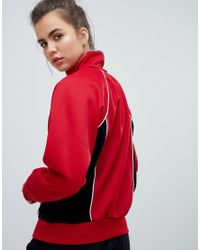 Volcom Track Jacket In Red