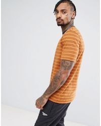 ASOS Yellow Relaxed Retro Stripe T-shirt With Ringer for men