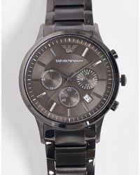 Серые Часы -серый Emporio Armani для него, цвет: Gray