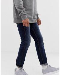 Jeans slim lavaggio scuro di Replay in Blue da Uomo