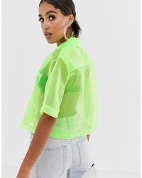 Reclaimed (vintage) Green Inspired – Organza-Hemd