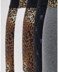 River Island – Unterhosen mit Leopardenmuster in Brown für Herren