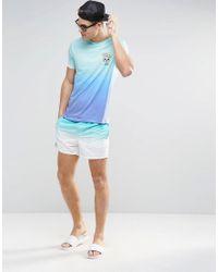 ASOS - Swim Shorts In Blue Dip Dye In Short Length for Men - Lyst