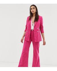 Вельветовые Расклешенные Брюки -розовый UNIQUE21, цвет: Pink