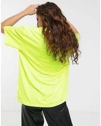 Camiseta extragrande con estampado Weekday de color Yellow
